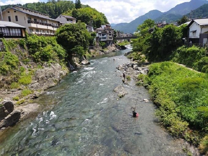 郡上八幡の川の写真
