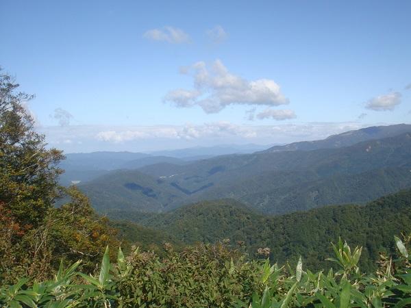 冠山峠から見える風景の写真