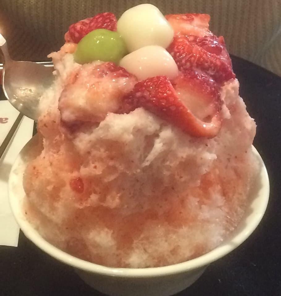 岐阜駅周辺の茶屋赤鰐のかき氷の写真