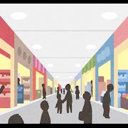 モールのショップをイメージしたイラスト