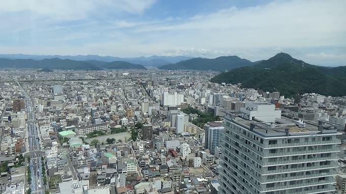 岐阜シティ・タワー43の展望台からの写真