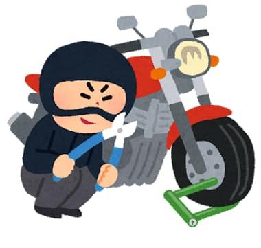 バイク盗難のイラスト