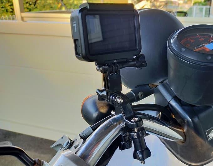 GoProとマウントの写真