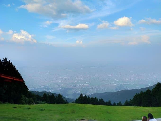 池田山の展望スポットからの風景写真