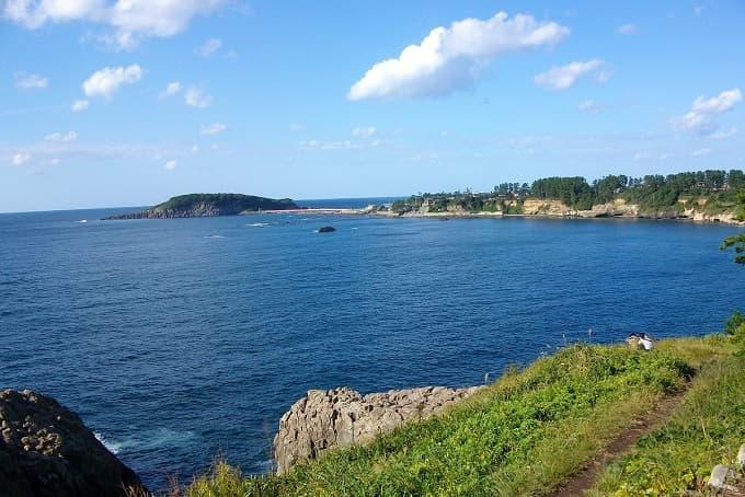 ツーリングでの海の風景写真