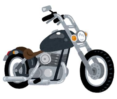 デザインのよいアメリカンバイクのイラスト