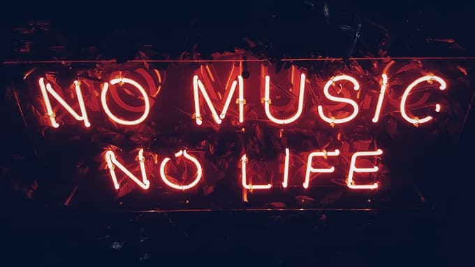 No Music No Lifeの文字のアイキャッチ画像