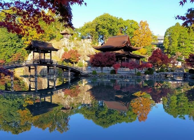 永保寺庭園の絶景紅葉写真