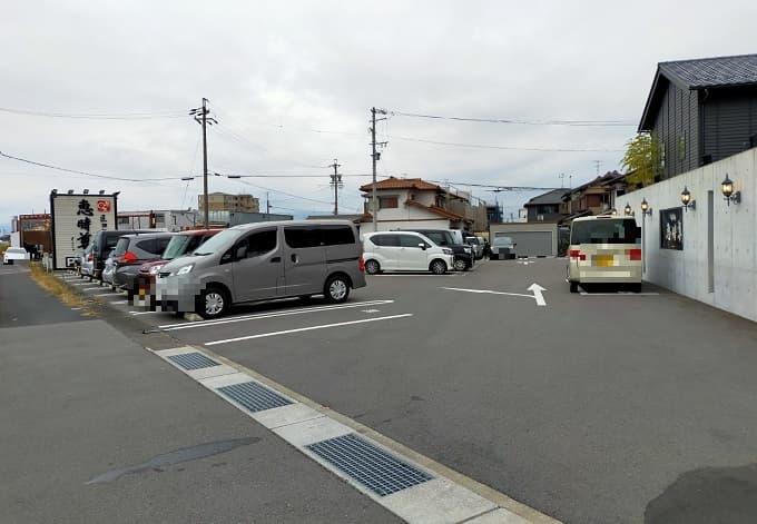 岐阜羽島市にあるモーニングがおすすめの「恵時尊(えじそん)」の駐車場写真