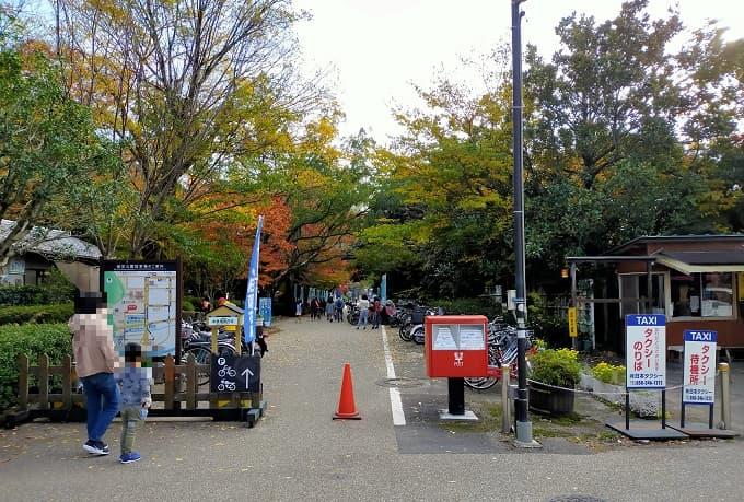 岐阜公園の駐輪場写真
