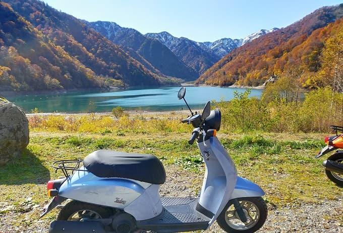 白川郷周辺の白水湖写真