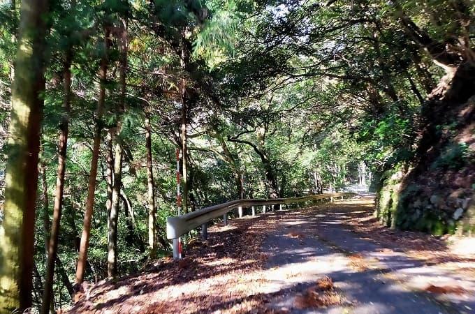 揖斐峡のアクセス道路写真