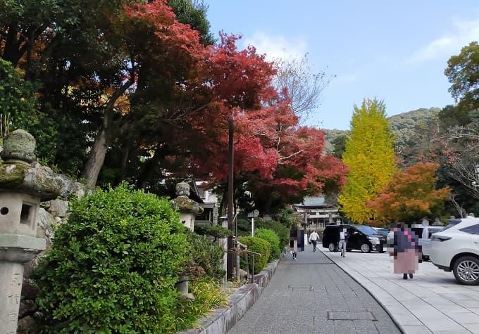 伊奈波神社の紅葉写真