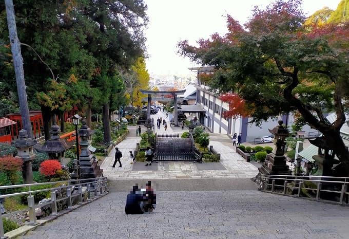 伊奈波神社の上から見下ろした写真