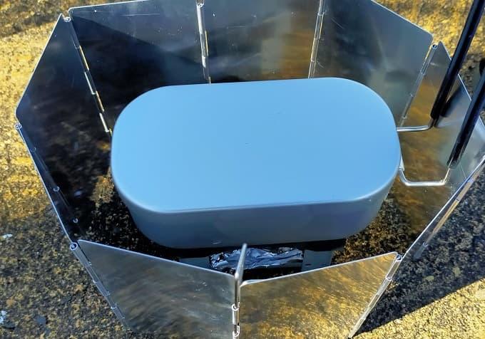 ダイソーメスティンで炊き込みご飯を作る写真