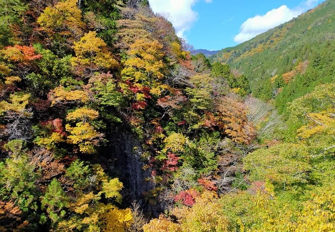 中津川付知峡の紅葉写真