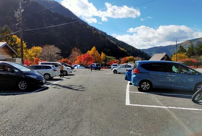 不動滝の駐車場写真
