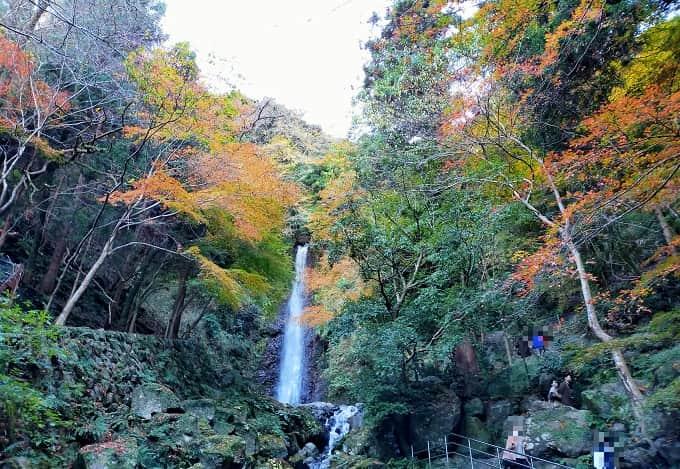 養老の滝の紅葉写真