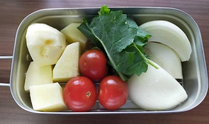 メスティンでの蒸し野菜